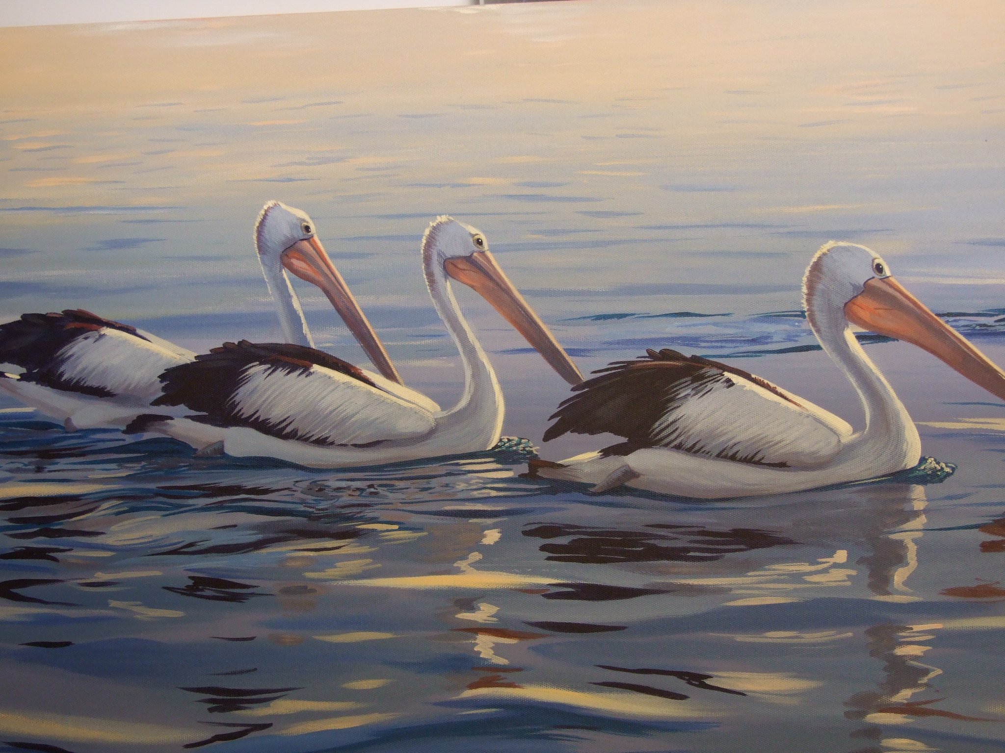 Afternoon Swim , Acrylic 800 x 500 mm