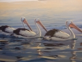 Afternoon Swim , Acrylic 800 x 500 mm